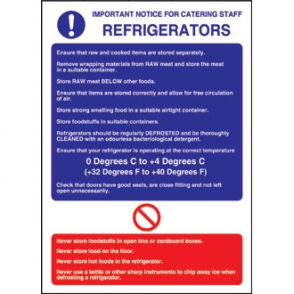 Refrigerator Guidelines Sign