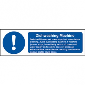 Dishwasher Machine Safety Sign