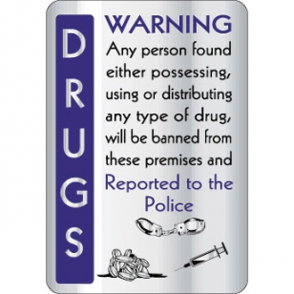 Drugs Warning Sign