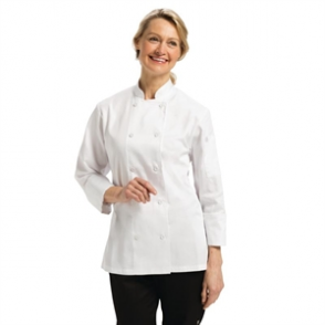 Chef Works Marbella Womens Executive Chefs Jacket White