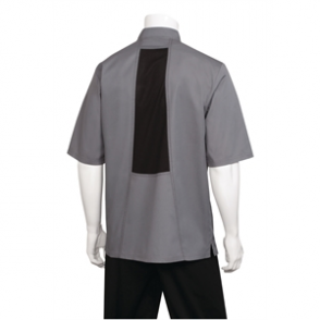 Chef Coat Grey with Cool Vent & Short Sleeve