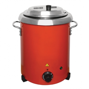 Buffalo Red Soup Kettle with Handles