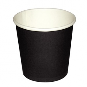 Fiesta Disposable Espresso Cups Black 112ml / 4oz