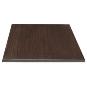 Bolero Square Table Top Dark Brown 700mm