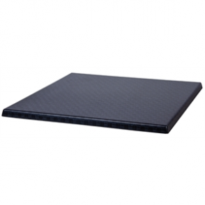 Werzalit Square Table Top Rattan Anthracite 600mm