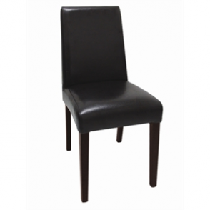 Bolero Faux Leather Dining Chair Black (Pack of 2)