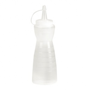 Vogue Clear Lidded Sauce Bottle 12oz