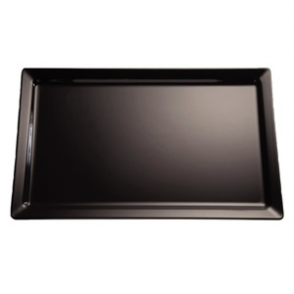 APS Pure Black Melamine Tray 1/2GN