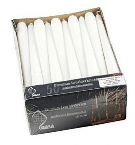 """10"""" Tapered Candle White (100 per case)"""