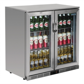 Polar Double Hinged Door Back Bar Cooler with LED Lighting