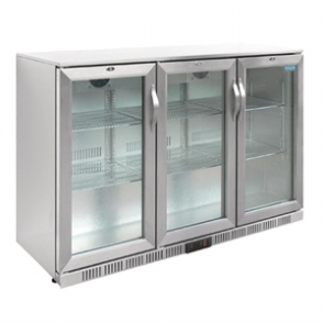 Polar Triple Hinged Door Back Bar Cooler with LED Lighting