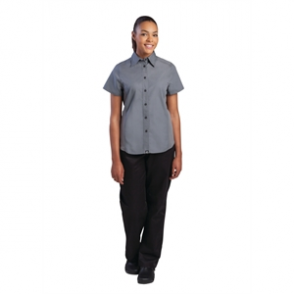 Chef Works Ladies Cool Vent Chefs Shirt Grey