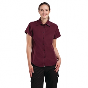 Chef Works Ladies Cool Vent Chefs Shirt Merlot