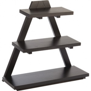 APS Triangle Wooden Buffet Stand Black