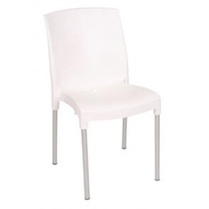 Bolero Stacking Bistro Side Chairs White (4 Per Pack)