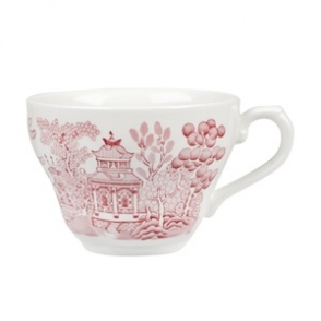 Churchill Vintage Prints Willow Georgian Teacup Cranberry 200ml (12pp)