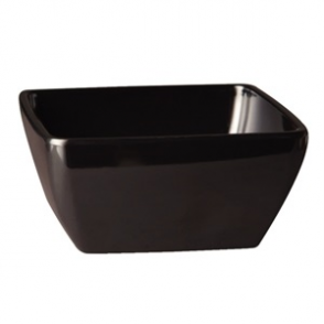 APS Pure Melamine Black Square Mini Bowl