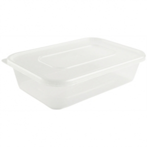 Plastic Microwave Container (Box 250) Small 500ml
