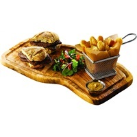 Olive Wood Serving Board W/ Groove 40 x 21cm+/-