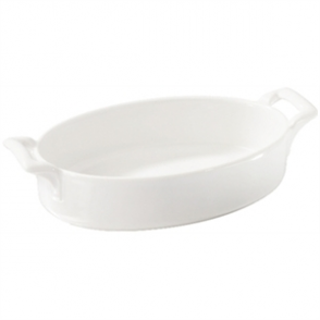 Revol Belle Cuisine Deep Oval Baking Dishes White 180x 120mm (Box 4)