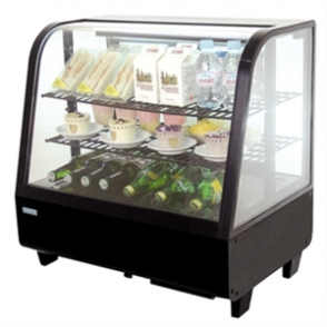 Polar Counter Top Refrigerated Merchandiser (Digital Controller) Black (FREE DELIVERY)
