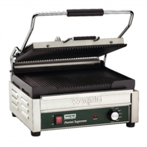 Waring Double Panini Grill WPG250K Ribbed Plates