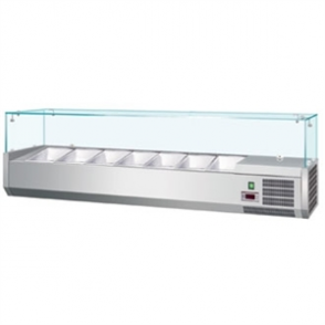 Polar Refrigerated Counter Top Prep/Servery 2000mm 10 GN 1/4 (M)