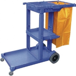 Cleaning Trolley - Blue