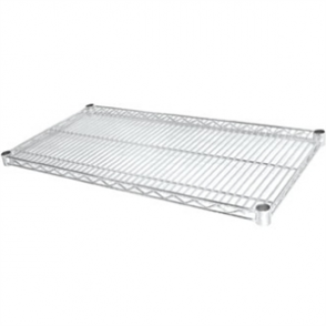 Vogue Chrome Shelves - 610x1525mm incl 8 pairs of clips (Pack 2)