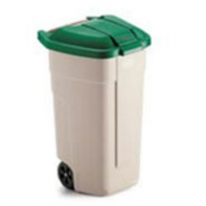 Rubbermaid Mobile Container 100Ltr Green Lid