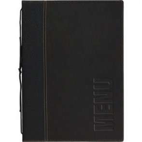 Contemporary Menu Holder - Black. 1 Insert (4 pages)