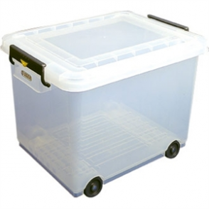 Mobile Food Storage Bin with Lid