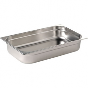Stainless Steel Gastronorm Pan - 1/1 Full Size 100mm deep