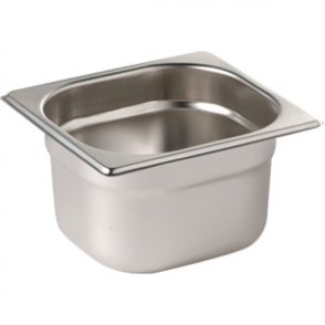 Stainless Steel Gastronorm Pan - 1/6 Size 100mm deep