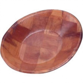 Oval Woven Wooden Bowl - 9x7