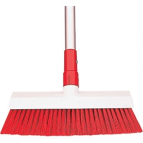 SYR Hygiene Broom Head Stiff Bristle Red