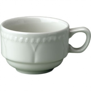 Buckingham White Stacking Continental Coffee Cup 179ml (Box 24)