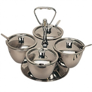 Revolving Relish Server - Four Bowls
