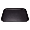 "Kristallon Foodservice Tray Black polypropylene. 350 x 450mm (13.8 x 17.7"")."