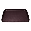"Kristallon Foodservice Tray Brown polypropylene. 350 x 450mm (13.8 x 17.7"")."