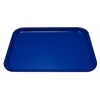 "Kristallon Foodservice Blue polypropylene. 350 x 450mm (13.8 x 17.7"")."