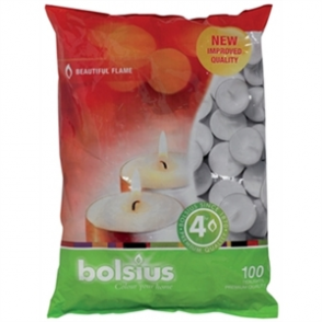 Bolsius 4 Hour Tealights 100 per bag