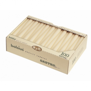 """10"""" Tapered Candles Ivory 100 per case"""