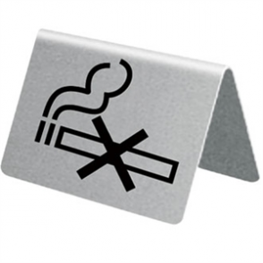 No Smoking Table Sign St/St