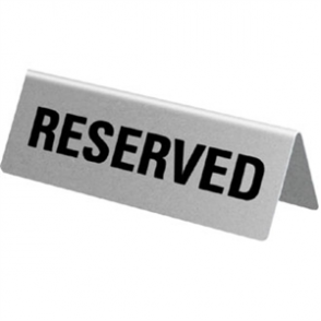 Stainless Steel Table Sign - Reserved