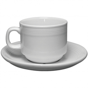 Olympia Linear Stacking Tea Cup Saucer -  Fits 200ml Teacups U084 (Box 12)