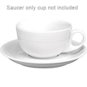 Olympia Linear Cappuccino Saucer - Fits 212ml Cup U086 (Box 12)