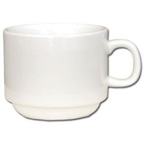 Olympia Ivory Stacking Tea Cups 206ml 7.5oz (Box 12)