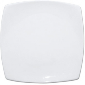 Olympia Whiteware Rounded Square Plate - 24cm 9 1/2 (Box 12)