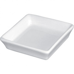 Olympia Whiteware Mini Dish Flat Square White 8x8x2cm (Box 12)